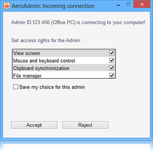 AeroAdmin náhled pro download