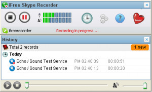 iFree Skype Recorder náhled pro download