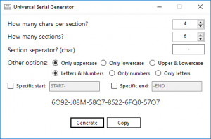 Universal Serial Generator náhled pro download