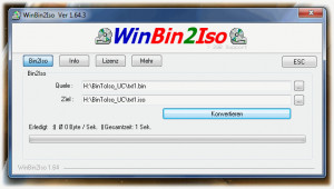 WinBin2Iso náhled pro download