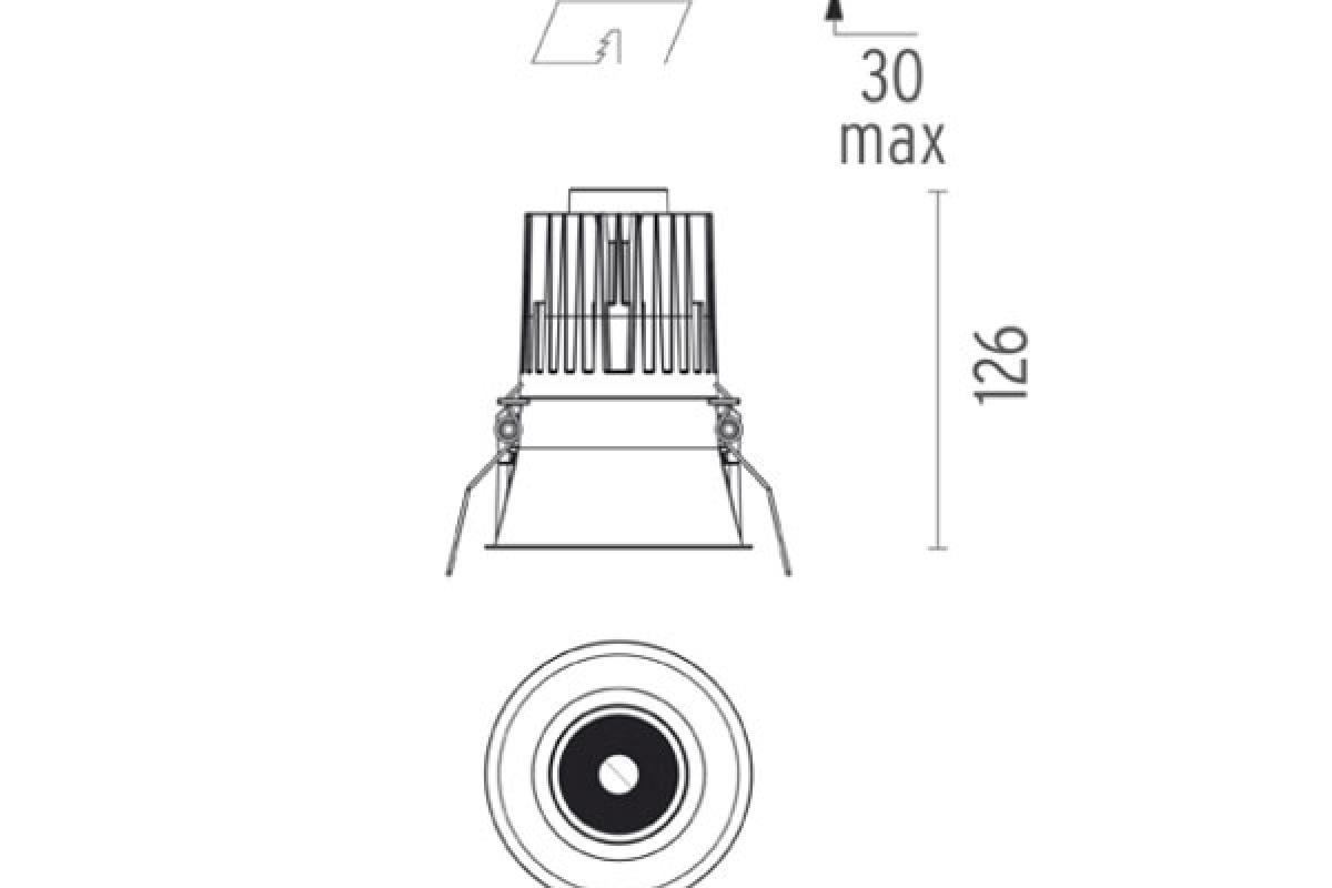 Flos Architectural Decofix Round 1l Led Array 10 5w 730lm 09 30