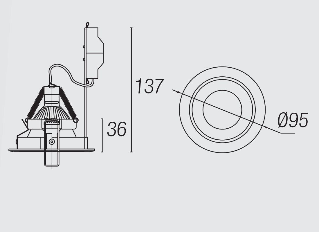Leds C4 Architectural Trimium Downlight Mini Qr Cbc51 Gu5