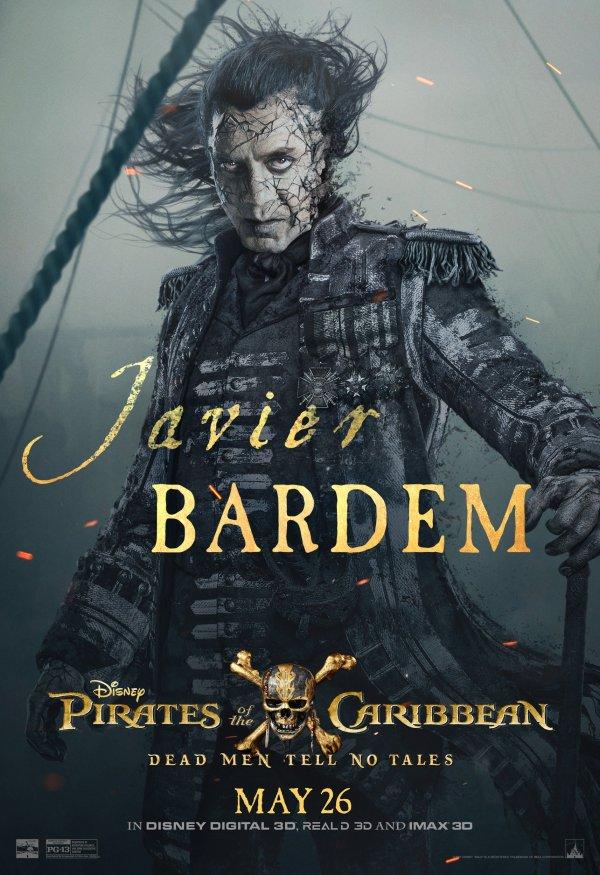 Pirates 5 karakterposters - Javier Bardem
