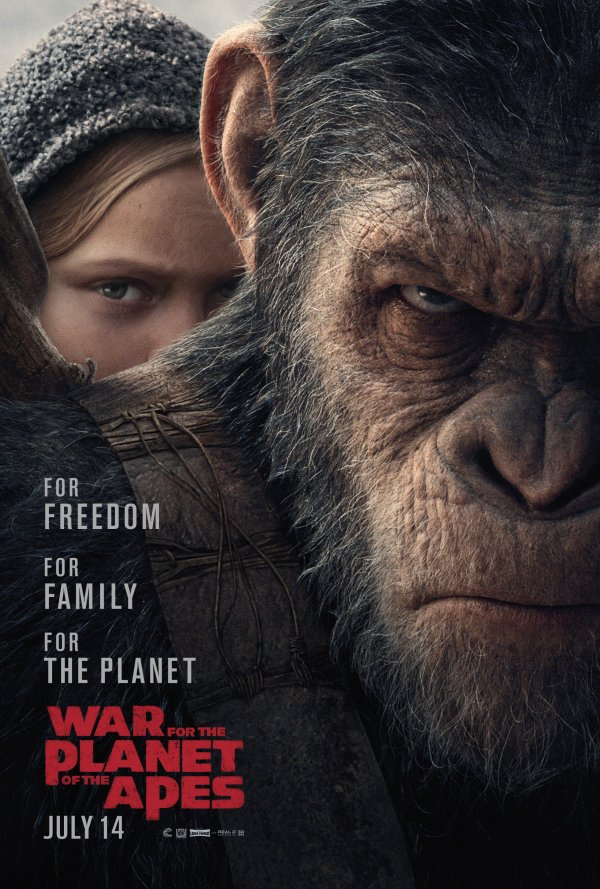 Caesar in War for the Planet of the Apes poster