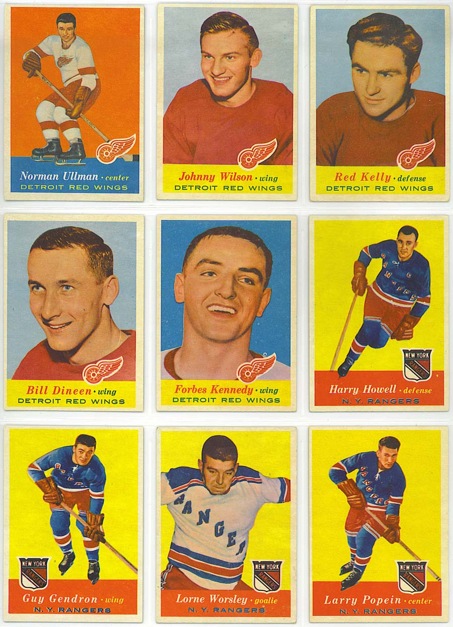 1957-58 Topps Hockey - cards 46-54