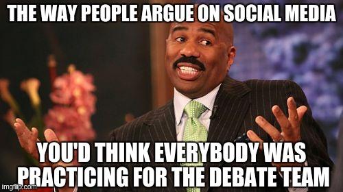 Image result for winning arguments on social media meme