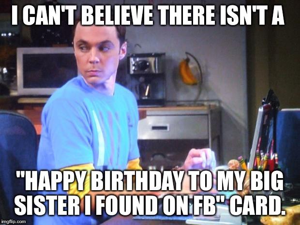 Sister Happy Birthday Meme