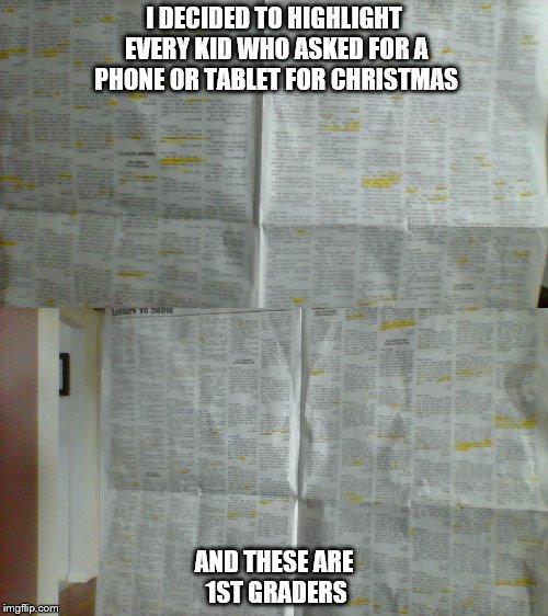 Santas Modern Christmas List Imgflip