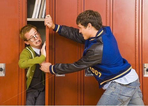 Image result for nerd and bully