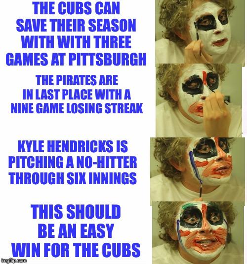 Putting on clown makeup meme