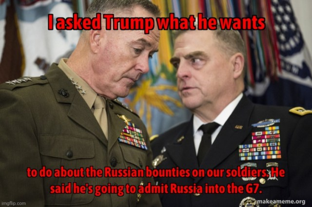 Trump and the Russian bounties - Imgflip