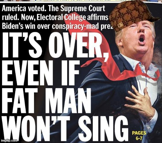 Trump refuses to concede.