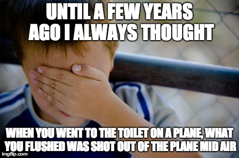 Confession Kid in Plane toilet