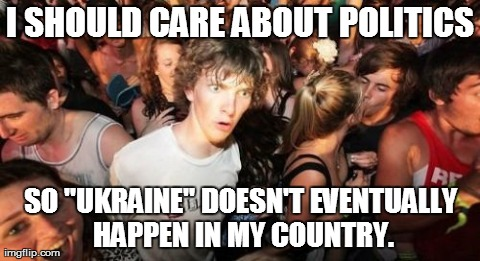Sudden clarity from the crisis in Ukraine.