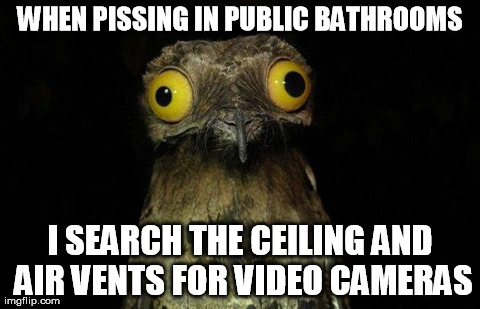 I'm paranoid about people with weird fetishes watching me