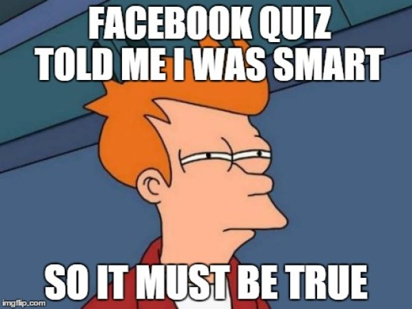 Image result for facebook quiz meme