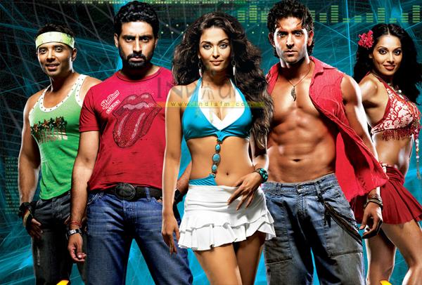 Dhoom 2, Hrithik Roshan, Uday Chopra, Abhishek Bachchan, Aishwarya Rai, Bipasha Basu, Rimi Sen, Yusuf Hussain, Arjun Sablok,