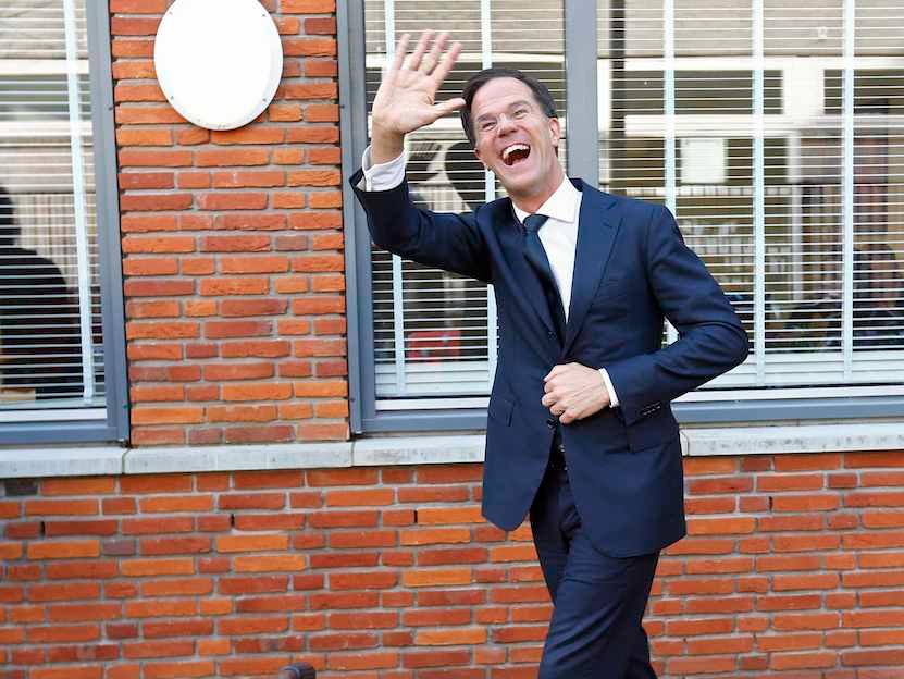 dutch prime minister mark rutte to win