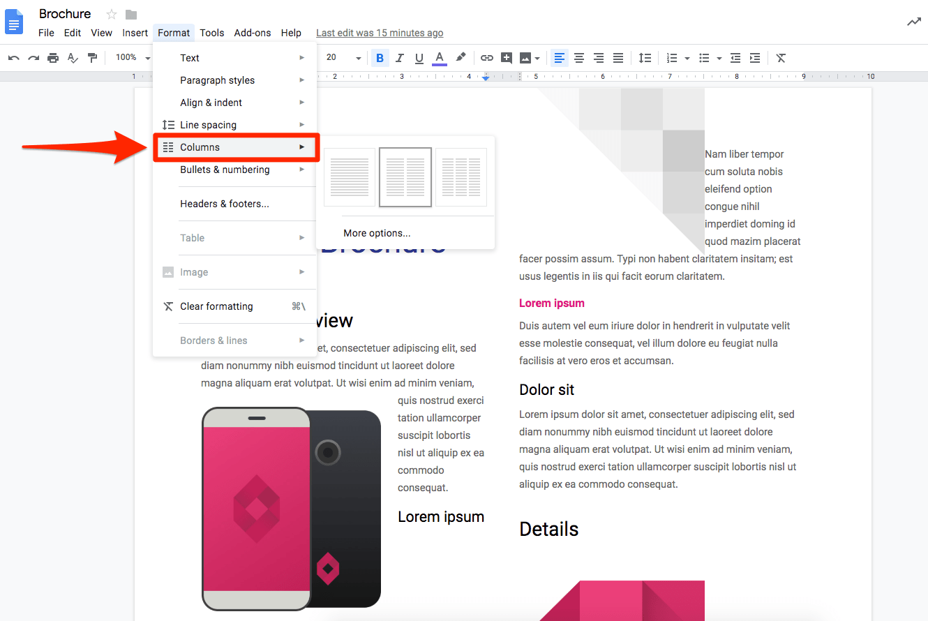 The brochure google docs template is the best structured paper ever. How To Make A Brochure On Google Docs