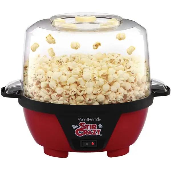 stir crazy electric hot oil popcorn popper machine
