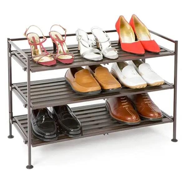 3 tier resin shoe rack