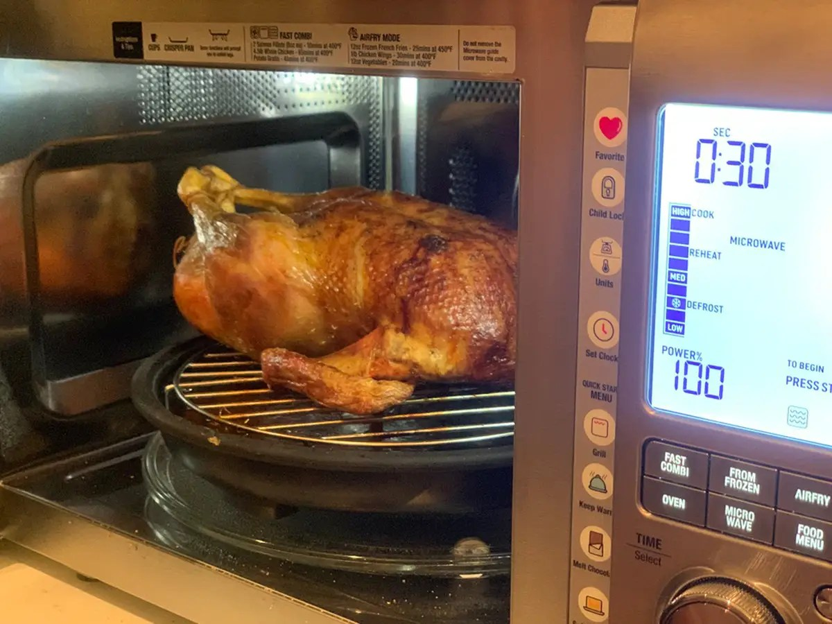 we used the breville combi wave 3 in 1