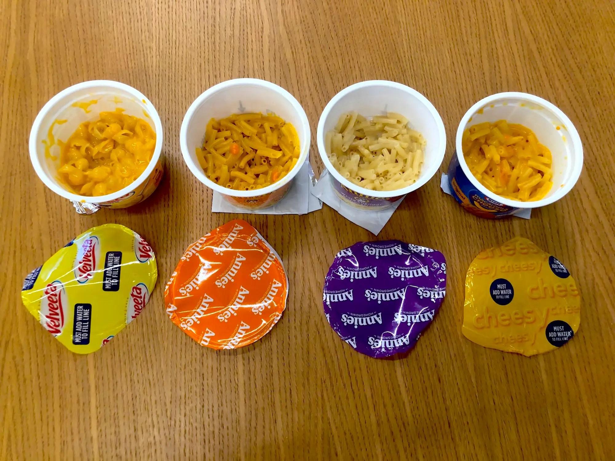 microwavable macaroni and cheese