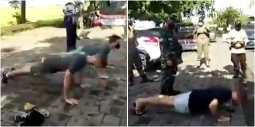 WATCH:Tourists In Bali Are Having To Do Push-Ups For Not Wearing Face Masks