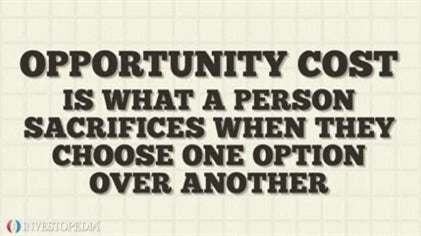 Image result for opportunity cost