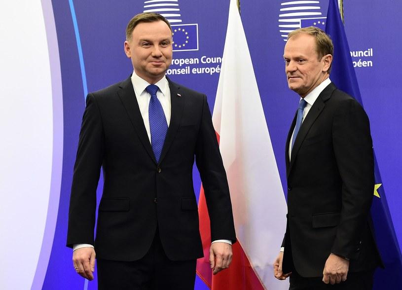 Andrzej Duda i Donald Tusk /EMMANUEL DUNAND /East News
