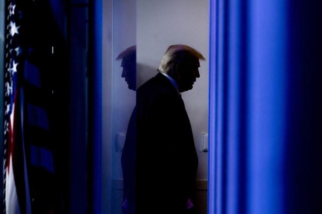 Donald Trump odchodzi /AFP