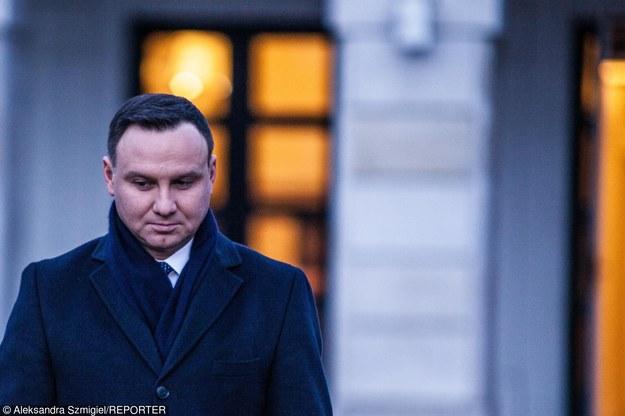 Groźny incydent z udziałem prezydenta Andrzeja Dudy /Aleksandra Szmigiel-Wisniewska/REPORTER /East News