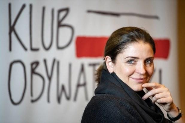 Joanna Mucha during the Lublin Civic Club meeting.  Archive photo / Wojciech Pacewicz / PAP