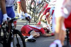 Kraksa podczas Tour de Pologne