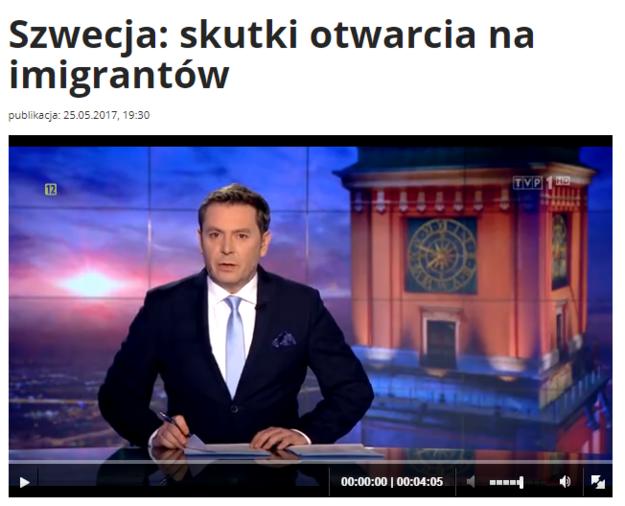 """Materiał """"Wiadomości"""" TVP /"""