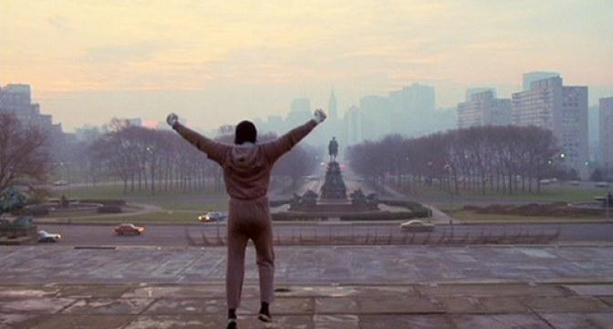 Scena z legendarnego filmu Rocky /