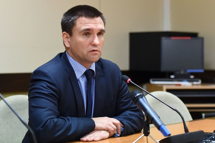 Szef MSZ Ukrainy Pawło Klimkin /AFP