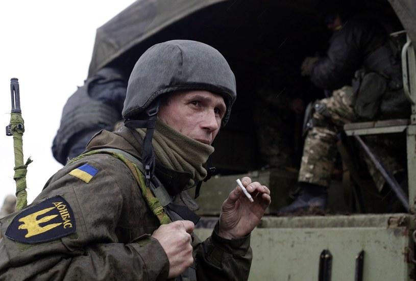 "Ukraiński ochotnik z batalionu ""Donbas"", zdjęcie z 2015 roku /AFP"