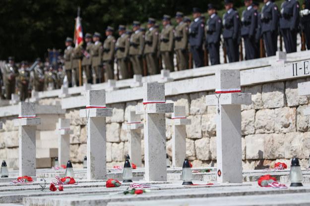 Uroczystości na polskim Cmentarzu Wojennym na Monte Cassino. /Leszek Szymański /PAP