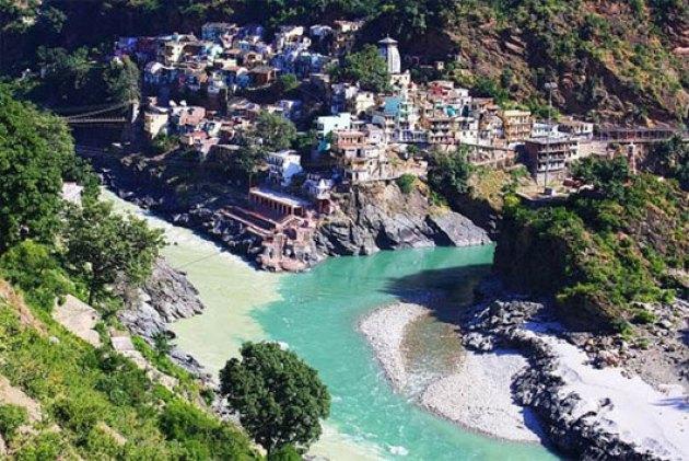Sông Alaknanda và Bhagirathi, Devprayag, Ấn Độ
