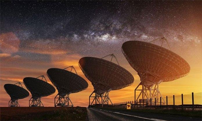Kính thiên văn Chân trời Sự kiện là một dạng kính thiên văn mảng chuỗi giống như trong hình ảnh này, nhưng khác là các đài quan sát của nó nằm rải rác khắp nơi trên thế giới