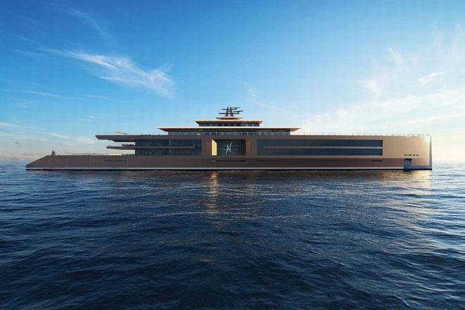 Con tàu dài tới tận 120 mét.