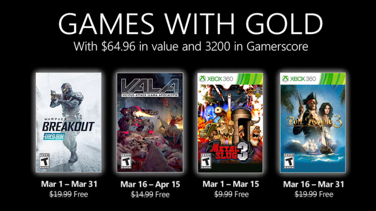 Games With Gold - Xbox Live Gold - Xbox 360 - Xbox One - Xbox Series X/S - juegos gratis
