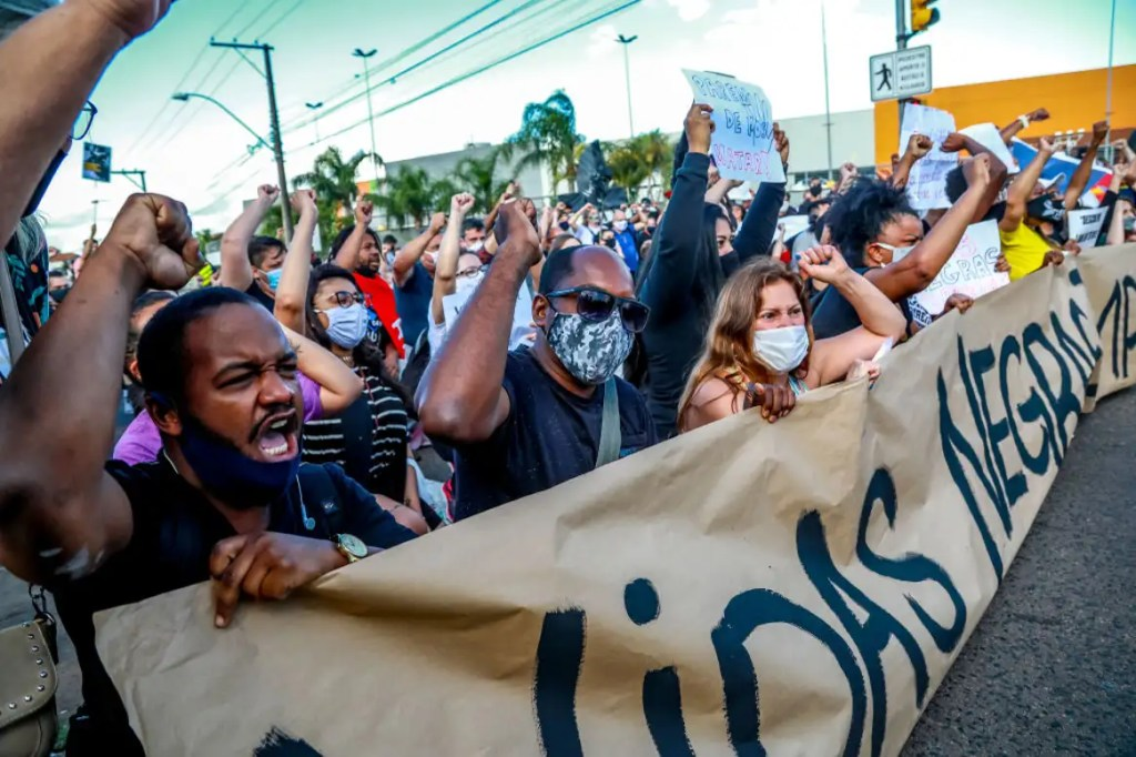 WATCH: Black Lives Matter Protests Erupt in Brazil After Black Man Beaten to Death by Security Officers