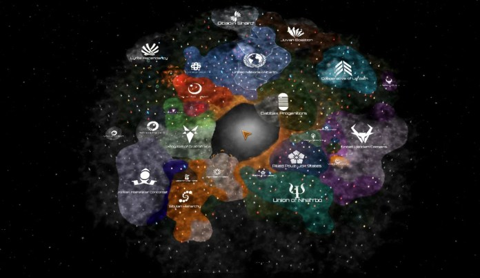 Uma galáxia em Stellaris