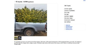 Washington State Man Advertises Truck On Craigslist Loaded With Weed