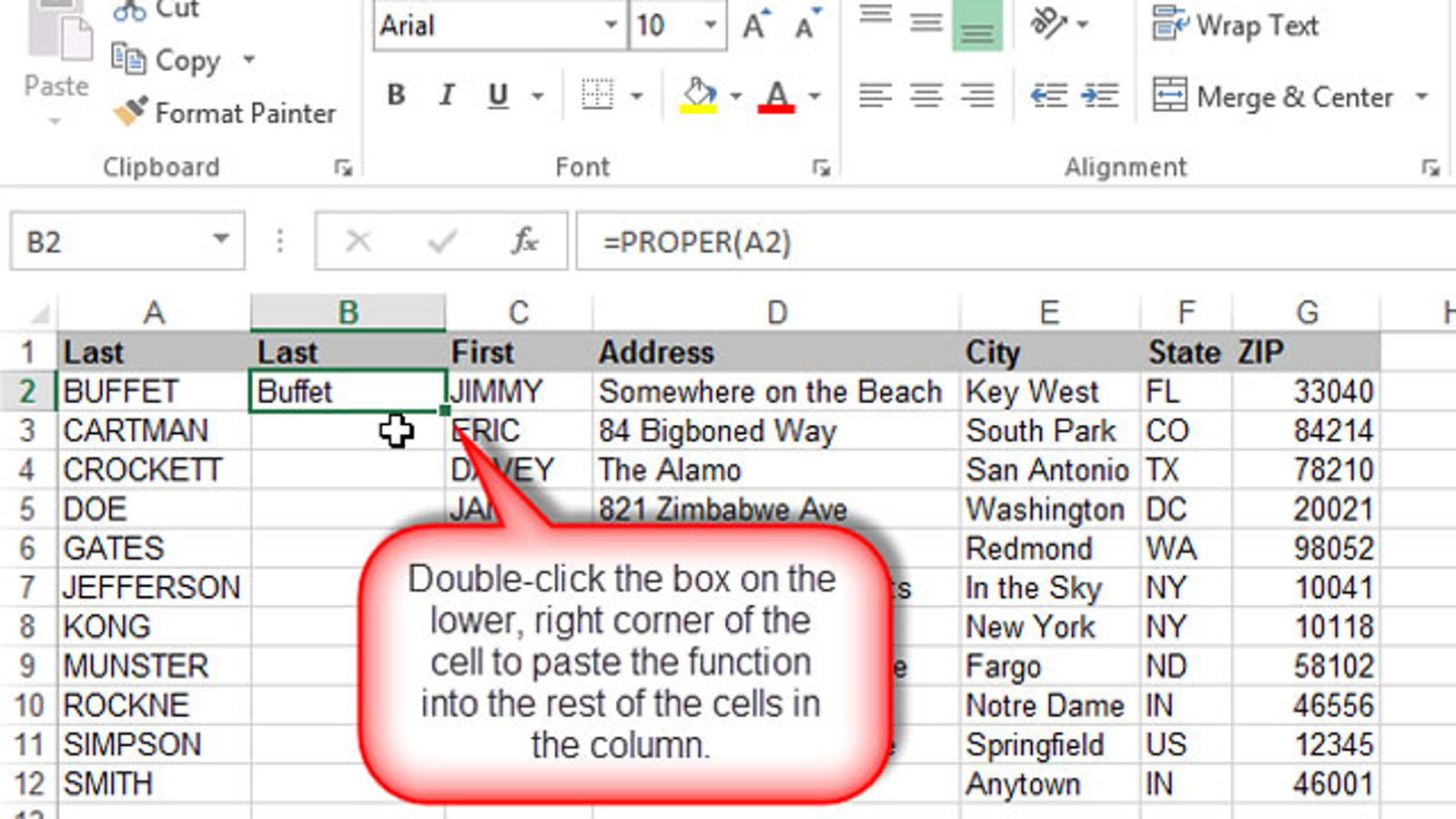 Paste Formulas Or Values Into An Excel Column With A Double Click