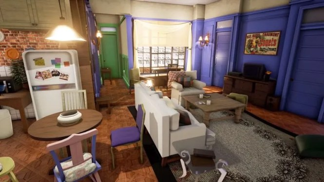 Ilration For Article Led Take An Eerie Virtual Tour Of Monica And Rachel S Apartment From