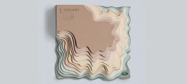 This Topographic Calendar Turns Your To-Do List Into an Actual Mountain