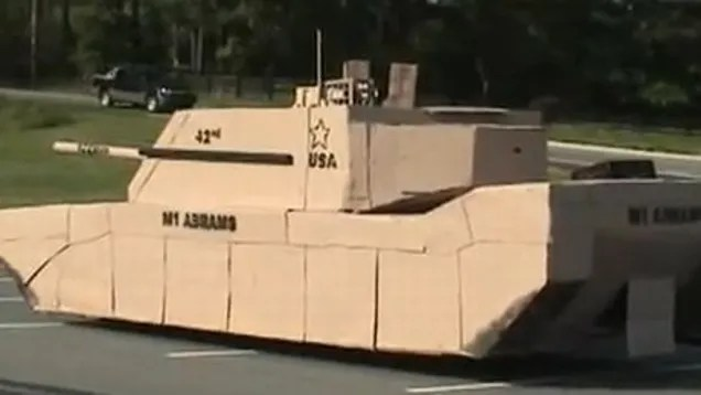 Full Size Cardboard Tank Is Perfect For Invading Ikea